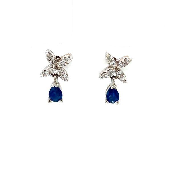 Estate Sapphire and Diamond Earrings Toner Jewelers Overland Park, KS
