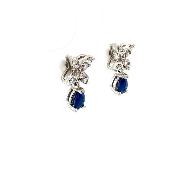 Estate Sapphire and Diamond Earrings Image 2 Toner Jewelers Overland Park, KS