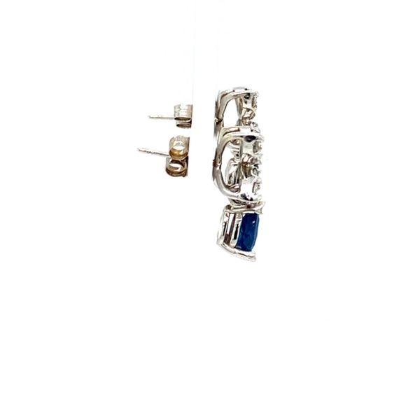 Estate Sapphire and Diamond Earrings Image 3 Toner Jewelers Overland Park, KS