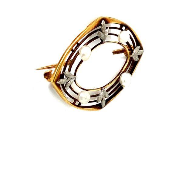 Estate Pearl Brooch Image 2 Toner Jewelers Overland Park, KS