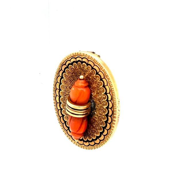 Estate Coral Antique Brooch  Image 3 Toner Jewelers Overland Park, KS