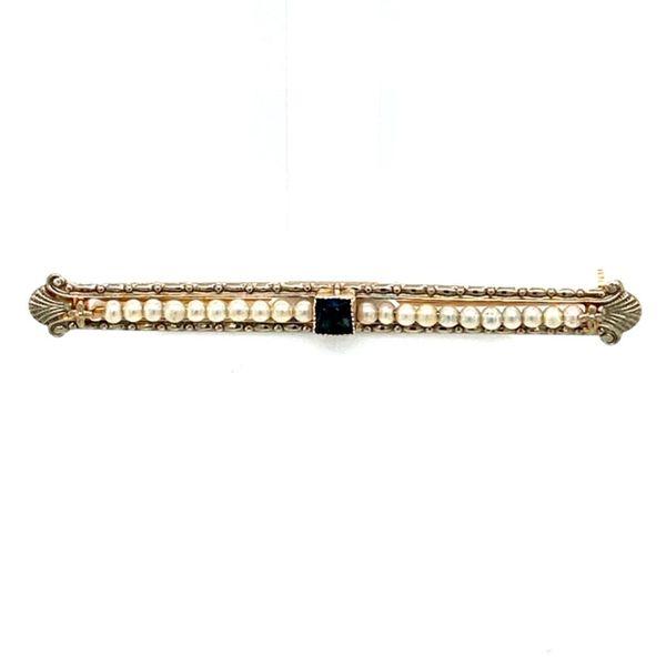 Estate Pearl and Sapphire Brooch Toner Jewelers Overland Park, KS