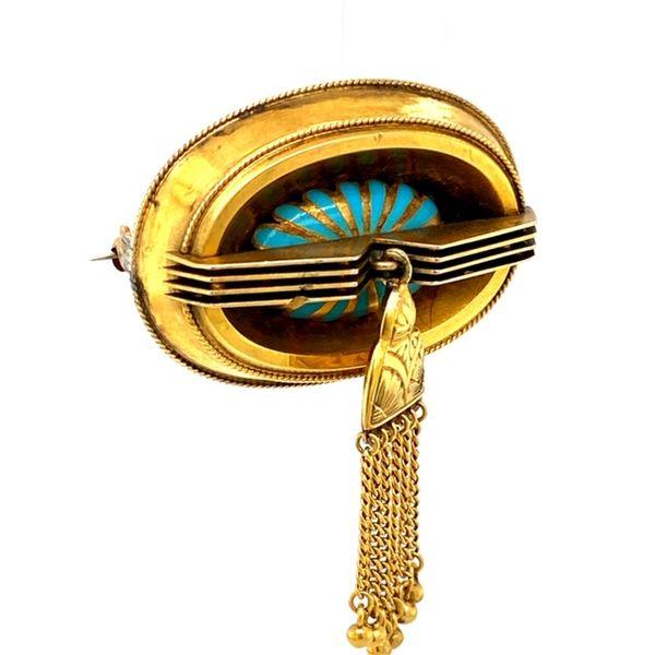 Estate Antique Turquoise Brooch  Image 2 Toner Jewelers Overland Park, KS