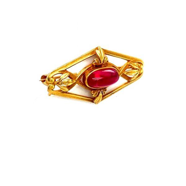 Estate Spinel Brooch  Image 2 Toner Jewelers Overland Park, KS