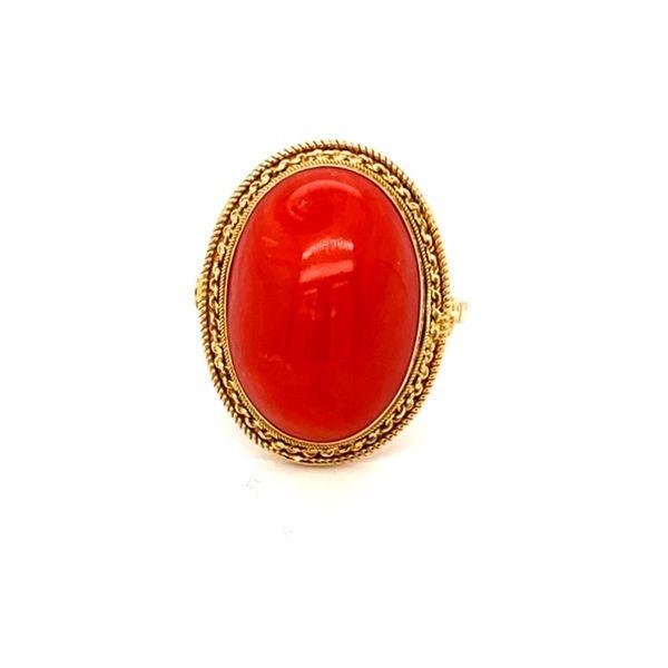 Estate Coral Ring Toner Jewelers Overland Park, KS