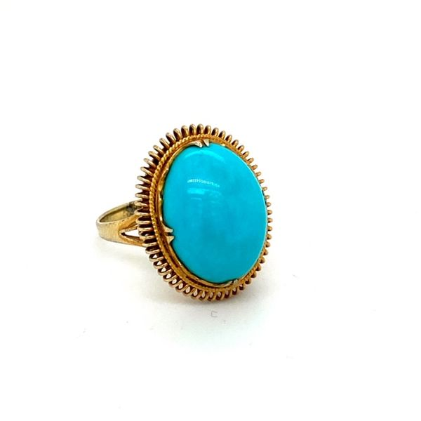 Estate Turquoise Ring Image 2 Toner Jewelers Overland Park, KS