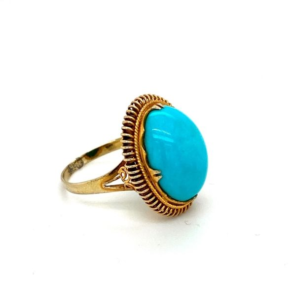 Estate Turquoise Ring Image 3 Toner Jewelers Overland Park, KS