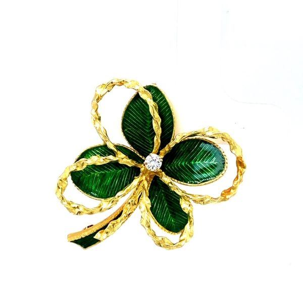 Estate Clover Brooch Image 2 Toner Jewelers Overland Park, KS