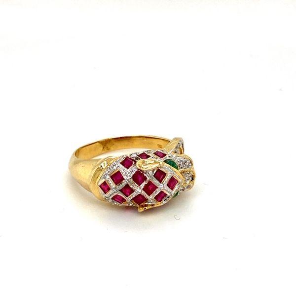 Estate Ruby Panther Ring Image 2 Toner Jewelers Overland Park, KS