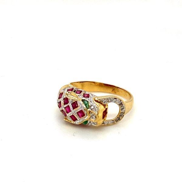 Estate Ruby Panther Ring Image 3 Toner Jewelers Overland Park, KS
