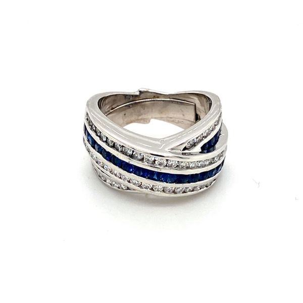 Estate Sapphire and Diamond Ring Toner Jewelers Overland Park, KS