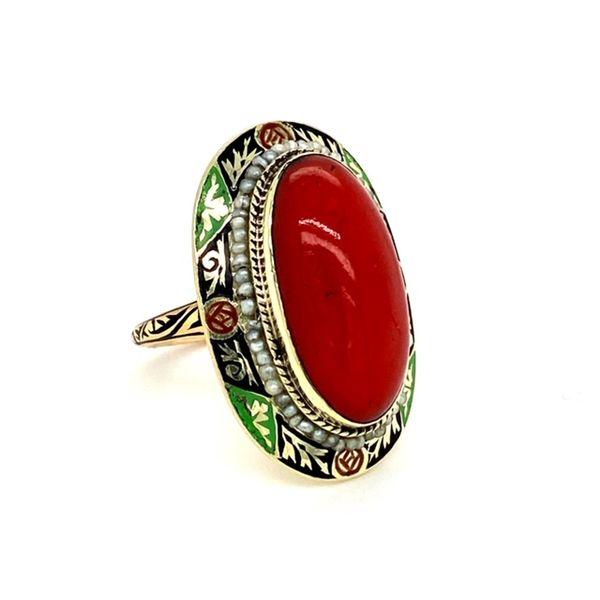 Estate Coral Ring Image 2 Toner Jewelers Overland Park, KS