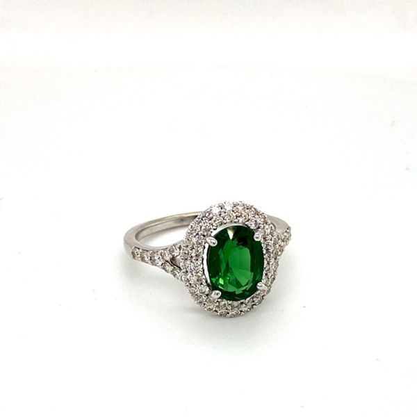 Oval Chrome Tourmaline Ring Image 2 Toner Jewelers Overland Park, KS