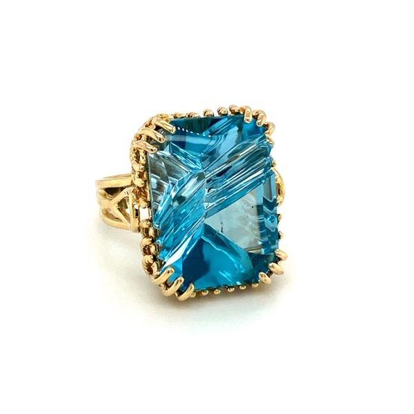 Estate Blue Topaz Ring Image 2 Toner Jewelers Overland Park, KS