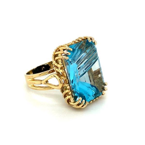 Estate Blue Topaz Ring Image 3 Toner Jewelers Overland Park, KS