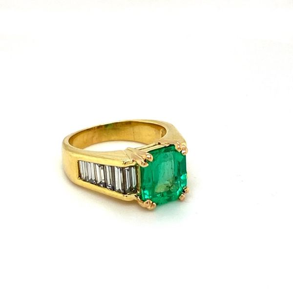 Estate Emerald Ring Image 2 Toner Jewelers Overland Park, KS