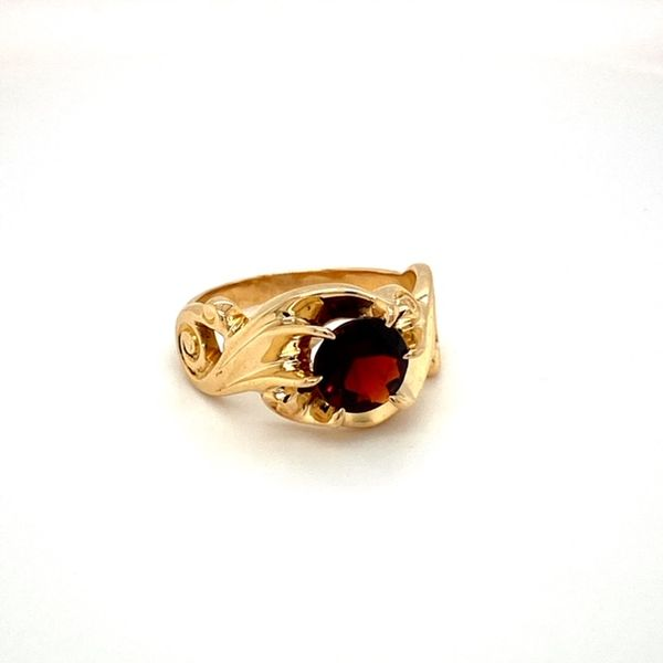 Estate Garnet Ring Image 2 Toner Jewelers Overland Park, KS