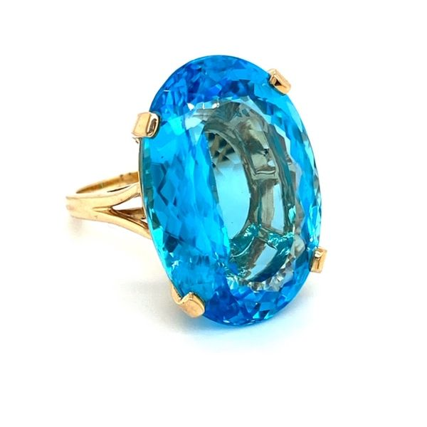 Estate Blue Topaz Ring Image 2 Toner Jewelers Overland Park, KS