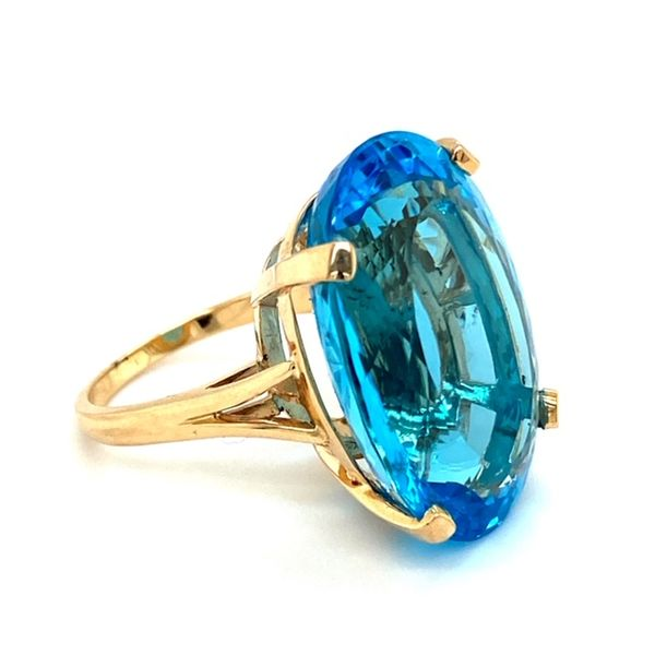 Estate Blue Topaz Ring Image 3 Toner Jewelers Overland Park, KS