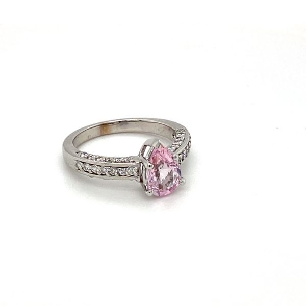 Estate Pink Sapphire Ring Image 2 Toner Jewelers Overland Park, KS