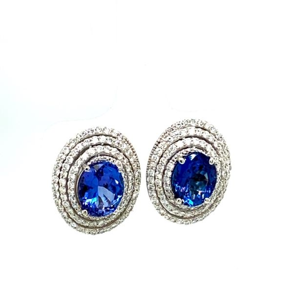Tanzanite and Diamond Earrings  Image 2 Toner Jewelers Overland Park, KS