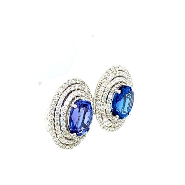 Tanzanite and Diamond Earrings  Image 3 Toner Jewelers Overland Park, KS
