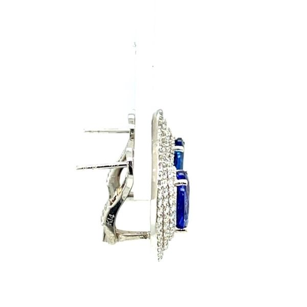 Tanzanite and Diamond Earrings  Image 4 Toner Jewelers Overland Park, KS