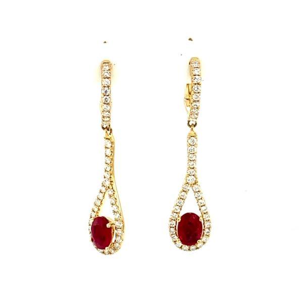 Ruby and Diamond Earrings Toner Jewelers Overland Park, KS