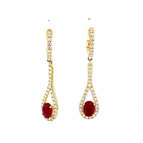 Ruby and Diamond Earrings Image 2 Toner Jewelers Overland Park, KS