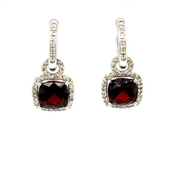 Garnet and Diamond Earrings Toner Jewelers Overland Park, KS