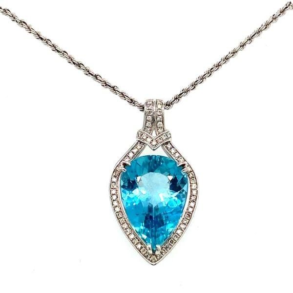 Aquamarine and Diamond Pendant Toner Jewelers Overland Park, KS