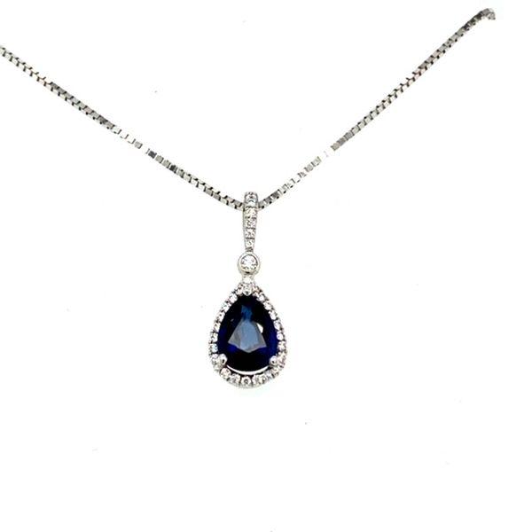 Sapphire and Diamond Pendant Toner Jewelers Overland Park, KS