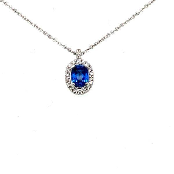 Sapphire and Diamond Necklace Toner Jewelers Overland Park, KS
