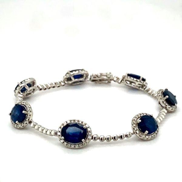 Sapphire and Diamond Bracelet Toner Jewelers Overland Park, KS