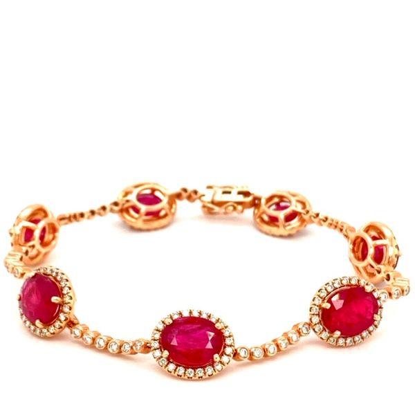Ruby and Diamond Bracelet Image 2 Toner Jewelers Overland Park, KS