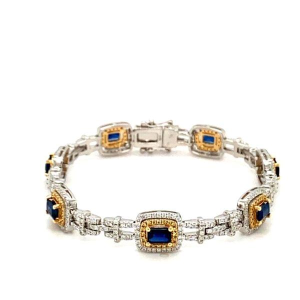 Sapphire and Diamond Bracelet Image 2 Toner Jewelers Overland Park, KS
