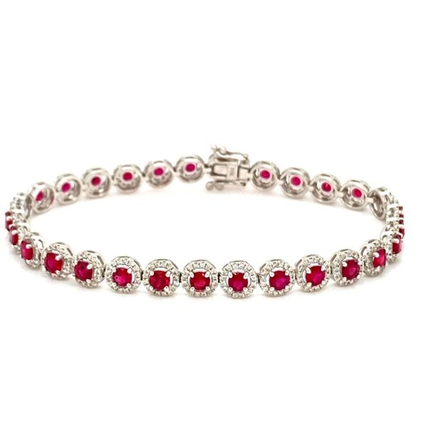 Ruby and Diamond Bracelet Image 2 Toner Jewelers Overland Park, KS