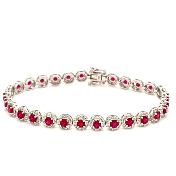 Ruby and Diamond Bracelet Image 3 Toner Jewelers Overland Park, KS