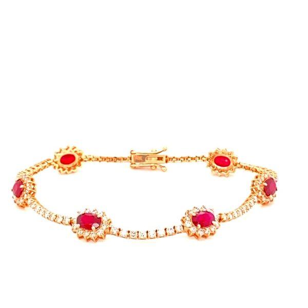 Ruby and Diamond Bracelet Image 3 Toner Jewelers Overland Park, KS