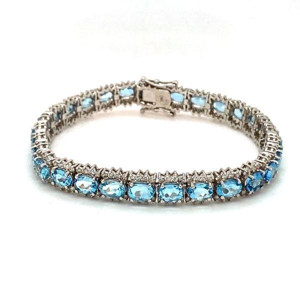 Aquamarine and Diamond Bracelet Toner Jewelers Overland Park, KS