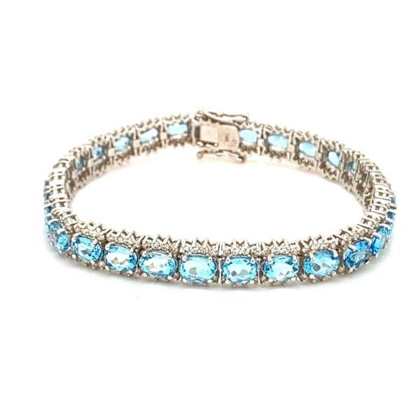 Aquamarine and Diamond Bracelet Image 2 Toner Jewelers Overland Park, KS