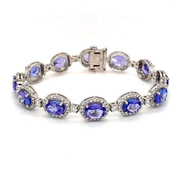 Tanzanite and Diamond Bracelet Image 2 Toner Jewelers Overland Park, KS