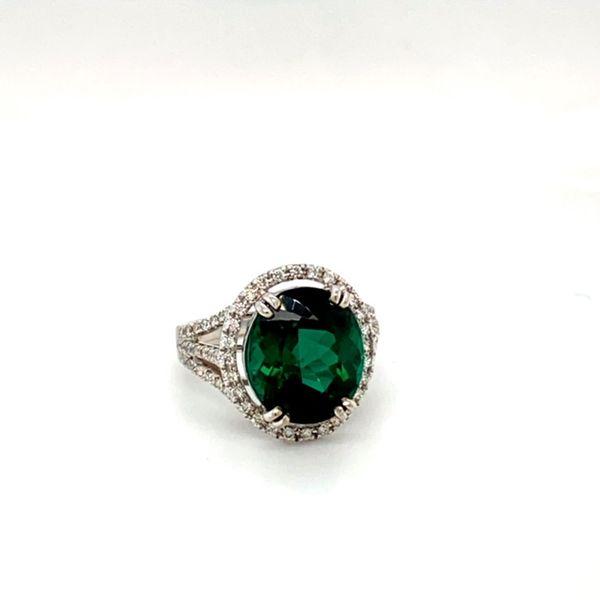 Green Tourmaline and Diamond Ring Image 2 Toner Jewelers Overland Park, KS