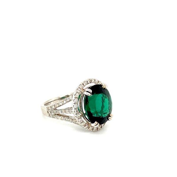 Green Tourmaline and Diamond Ring Image 3 Toner Jewelers Overland Park, KS