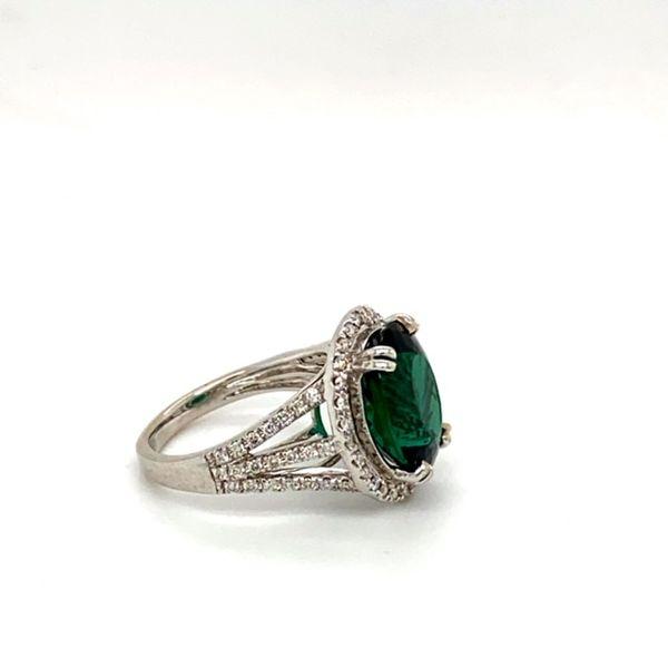 Green Tourmaline and Diamond Ring Image 4 Toner Jewelers Overland Park, KS