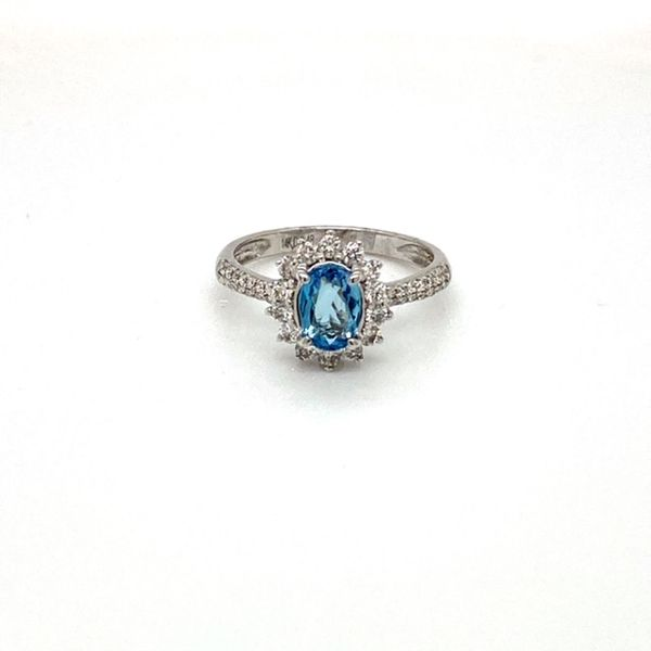 Aquamarine and Diamond Pave Ring Toner Jewelers Overland Park, KS