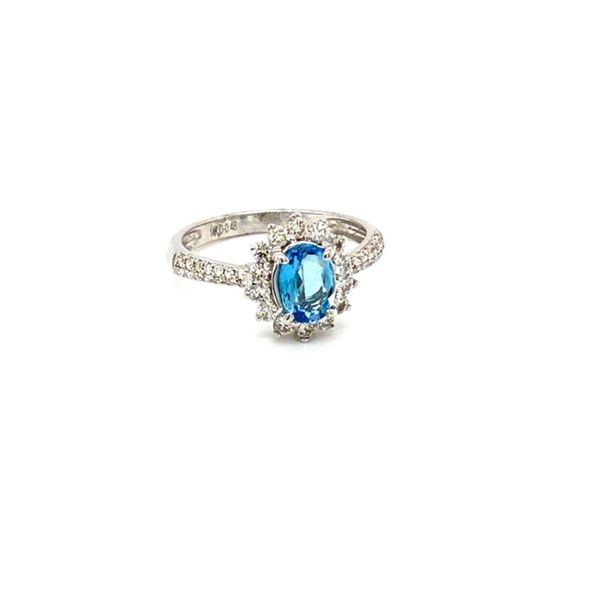 Aquamarine and Diamond Pave Ring Image 2 Toner Jewelers Overland Park, KS
