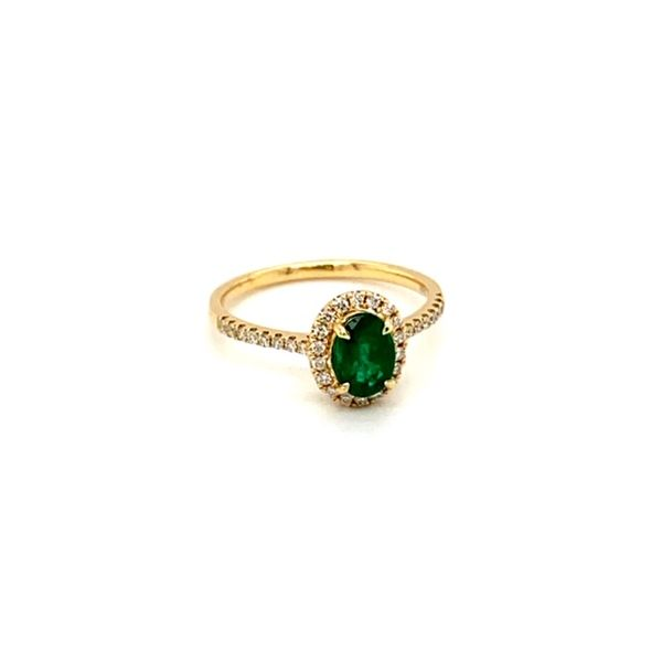 Emerald and Diamond Ring Image 2 Toner Jewelers Overland Park, KS