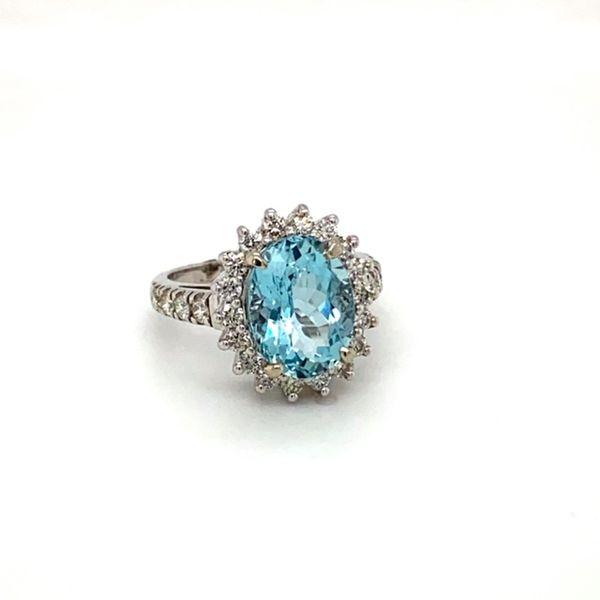 Aquamarine and Diamond Ring Image 2 Toner Jewelers Overland Park, KS