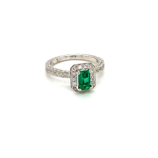 Emerald and Diamond Ring Image 2 Toner Jewelers Overland Park, KS